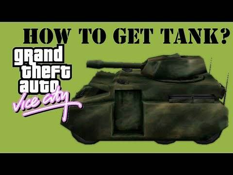 GTA Vice City - How to get a Tank - Rhino