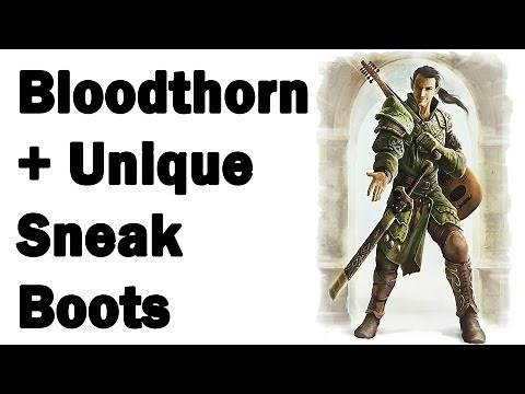 Skyrim How to get: Bloodthorn & Boots of the Predators Grace Location