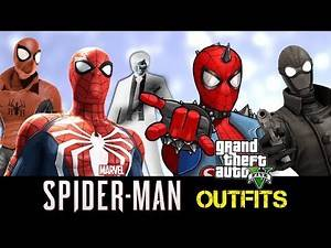 GTA 5 Online - Outfits (Spider-Man PS4 SPECIAL)