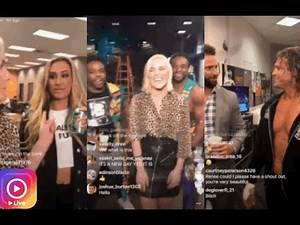 WWE Renee Young's Back Stage Pass w/ New Day, Dolph Zigger, Carmella, Zac Ryder (Smackdown Pre Show)
