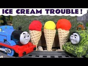 Thomas & Friends fun Play Doh Ice Cream Trouble toy story with Tom Moss and the funny Funlings TT4U