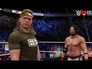 WWE 2K17 Future Scenario: AJ Styles challenges Shawn Michaels! (Custom Story) -PS4