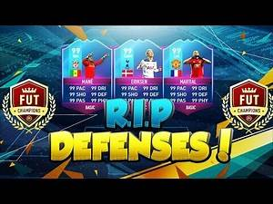 NEW FIFA 17 SERIES - RIP DEFENSES - THE BEST & MOST OVERPOWERED ATTACKING STRIKE FORCES IN FUT !