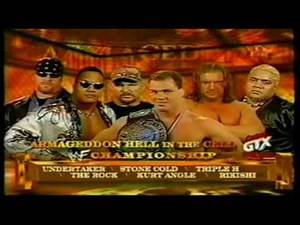 WWF Armageddon 2000 Matchcard