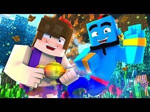 Minecraft ALADDIN Murder Mystery - GENIE GIVES ALADDIN 3 WISHES! (Minecraft Roleplay)