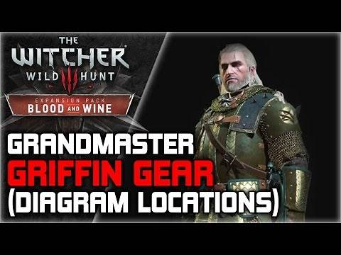 WITCHER 3 Grandmaster Griffin Armor Set GUIDE ► Starting Quest, Diagrams, Crafting Requirements