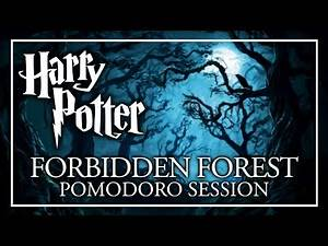 Study in the Forbidden Forest - Pomodoro Session - Harry Potter ASMR