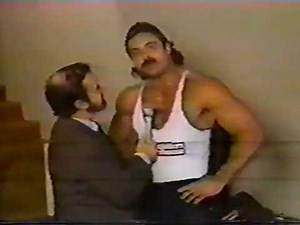 vintage Rick Rude wrestling interview with Percy Pringle