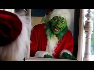 Applying Grinch Make Up / Mask - Stop Motion Footage