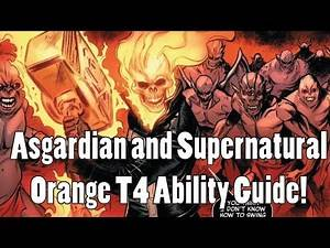 Asgardian and Supernatural Orange T4 Ability Material Guide (Marvel Strike Force)