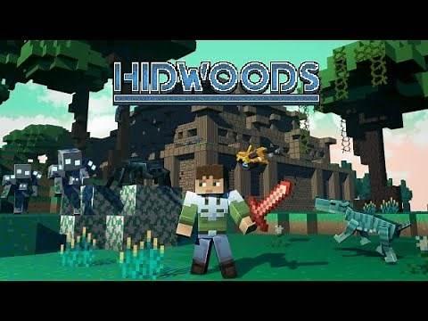 The Best Minecraft Bedrock Mod Ever | MCPE HIDWOODS Addon Showcase