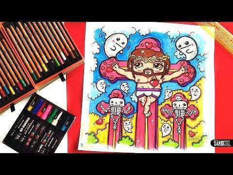 How To Draw a Cute Jesus Christ by Garbi KW