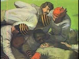 Gridiron History 1869 Rutgers Queensmen vs College of New Jersey Tigers