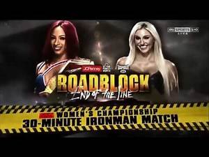 WWE Roadblock End Of The Line 2016: Sasha Banks vs Charlotte - Ironman Match - Match Card