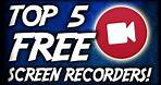 Top 5 Best FREE Screen Recording Software 2017 (Best FREE Screen/Game Recording Software For PC)
