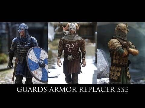 Skyrim SE Mods - Guards Armor Replacer SSE