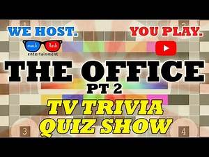 """Play """"The Office: Part 2"""" Quiz Show! - Mack Flash Trivia Quickies"""