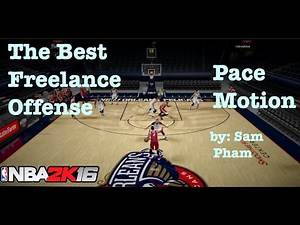 NBA 2K16 Tips : Best Offense to Score. How to Break Defense. Freelance Pace Motion Tutorial #20