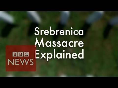 Srebrenica massacre - Explained in under 2 min - BBC News