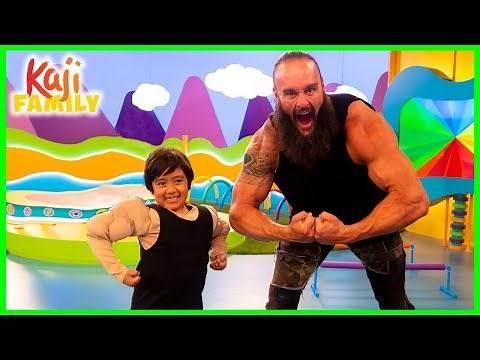 Ryan Pretend play with WWE Superstar Braun Strowman on Ryan's Mystery Playdate!