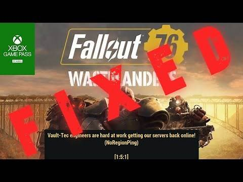 How to fix Fallout 76 No Region Ping Fix (1:5:1) | Xbox Game Pass (PC)| Quickfix