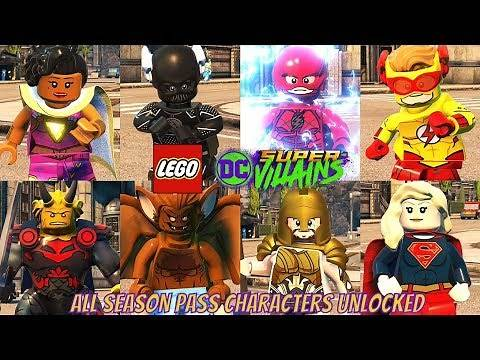 LEGO DC Super Villains All Season Pass DLC Characters Unlocked
