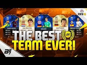 THE BEST TEAM EVER! INSANE TOTY CARDS!   FIFA 16