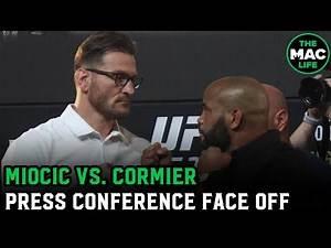 Stipe Miocic vs. Daniel Cormier Face Off | UFC 252 Press Conference