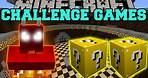 Minecraft: FIRE DEMON CHALLENGE GAMES - Lucky Block Mod - Modded Mini-Game