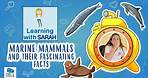 MARINE MAMMALS and their fascinating facts   LEARNING WITH SARAH   EDUCATIONAL VIDEOS FOR KIDS