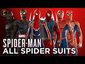 Spider-man All Suits with Collider Heroes | PS4