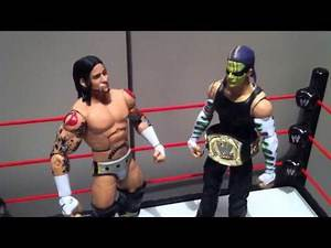 "WWE ACTION INSIDER: CMpunk Elite series 1 mattel ""grims toy show"" wrestling figures"