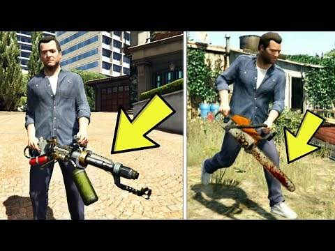 GTA 5 - All Secret And Rare Weapon Locations (Chainsaw, Flamethrower & more)