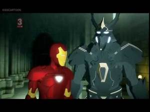Ironman and Mandarin vs doombot (Ironman:Armored Adventures)