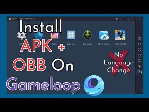 How To Import APK And OBB File On Gameloop || PUBG Mobile 1.1.0