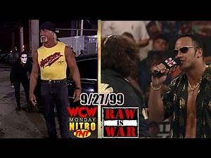WWF RAW vs. WCW Nitro - September 27, 1999 Full Breakdown - Rock/Mankind THIS IS YOUR LIFE - 6ManTag