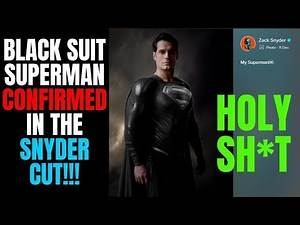 Black Suit Superman CONFIRMED With Zack Snyder Photo! | Release The Snyder Cut