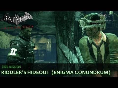 Batman: Arkham City - Riddler s Hideout - Enigma Conundrum Side Mission Walkthrough