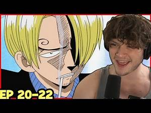 SANJI THE COOK IS AWESOME! || BARATIE RESTAURANT! || One Piece Episode 20-22 Reaction