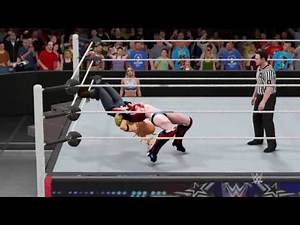 WWE 2K17 Ms. Marvel vs. Tina Armstrong - Submission Match