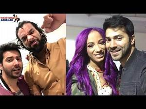 VARUN DHAWAN having fun with WWE Superstars!!!