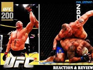Brock Lesnar vs. Mark Hunt UFC 200 Reactions, Commentary, & Review | Dalyxman