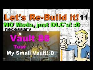 Fallout 4 Settlement Building - My Tiny Vault 88! :D (No Mods necessary)