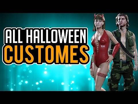 ALL HALLOWEEN CUSTOMES in FRIDAY THE 13TH THE GAME - New Halloween Costume Pack
