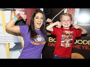 WWE Superstars meet pediatric cancer survivors backstage at Raw in partnership with Hyundai