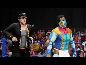 WWE2K18 creation : Jotaro/Star Platinum vs Dio/The World