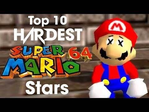 Top 10 HARDEST Super Mario 64 Stars