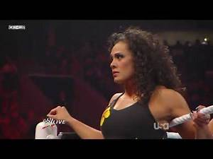 WWE Raw Alicia Fox, Tamina and Maryse vs Natalya, Melina and Gail Kim