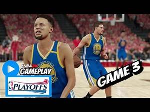 Stephen Curry & Klay Thompson Highlights vs Trailblazers (2017 Playoffs First Round Game 3) NBA 2K17