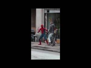 Spiderman Homecoming Shooting from set